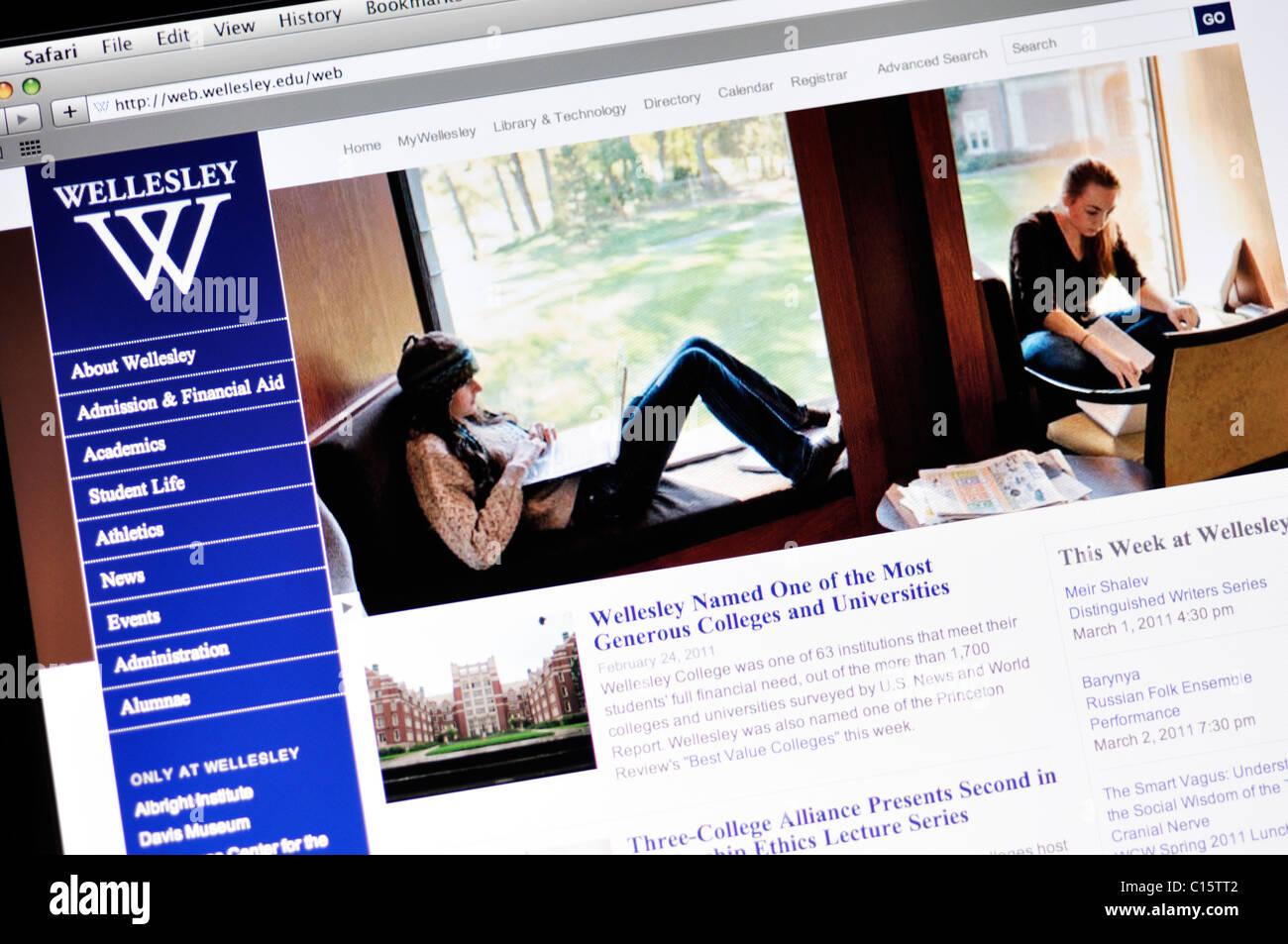 Wellesley College website - Stock Image