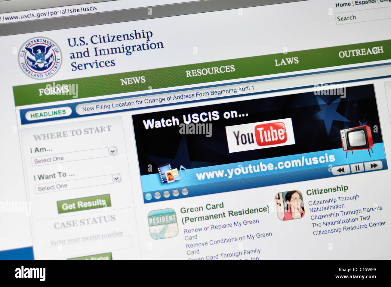 Department of Homeland Security, US Citizenship and Immigration Services - Stock Image