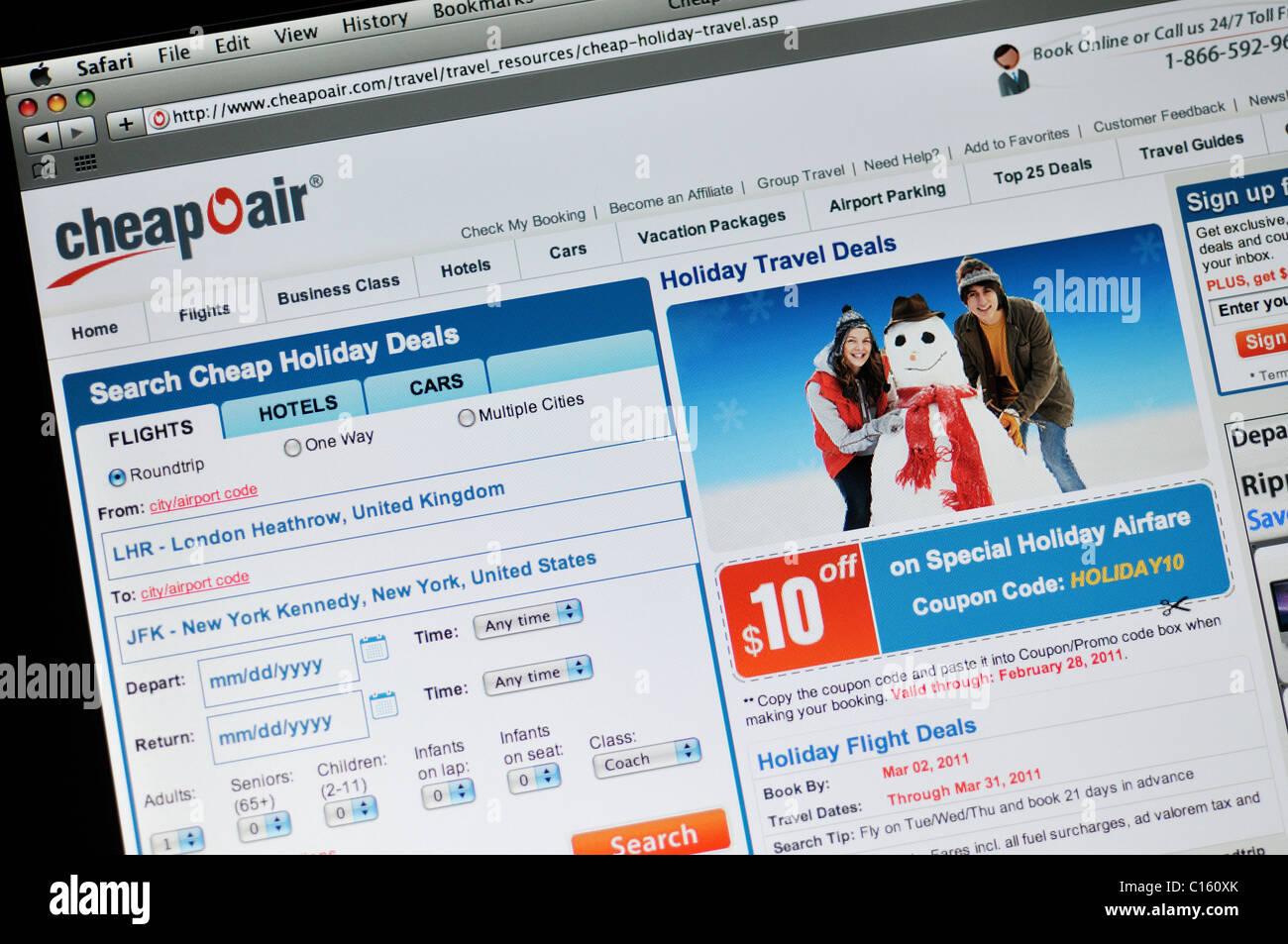 CheapOAir flights website - Stock Image
