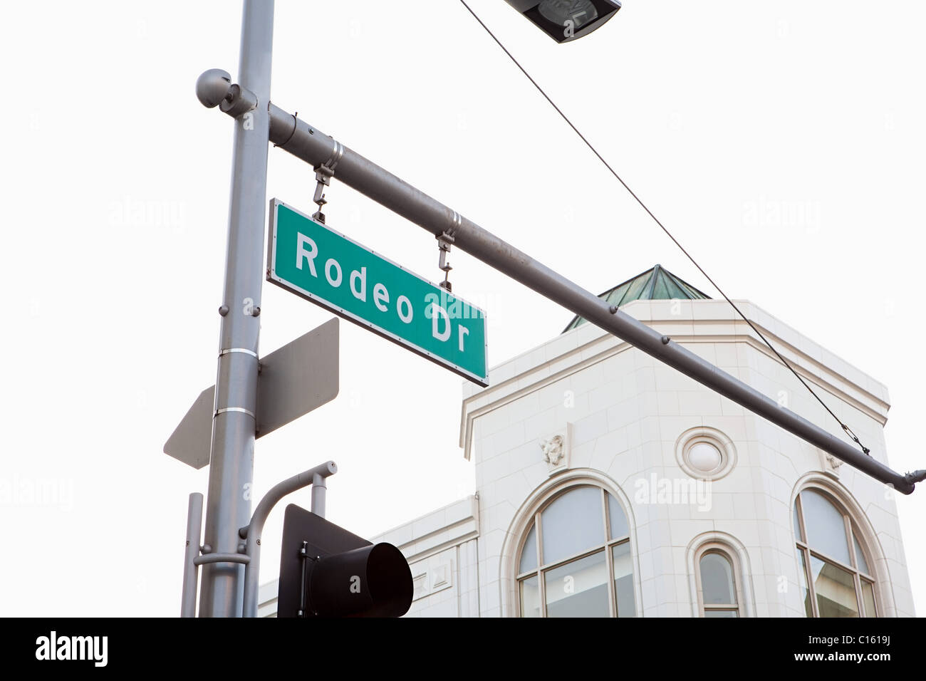 Rodeo Drive, Beverly Hills, Los Angeles County, California, USA - Stock Image