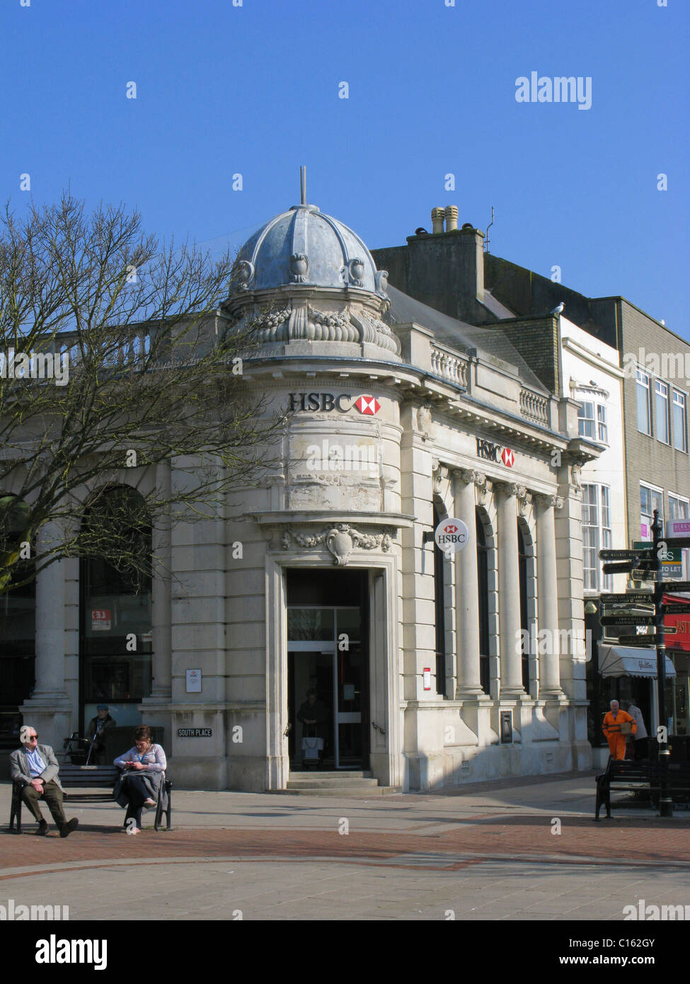 HSBC bank Worthing West Sussex - Stock Image