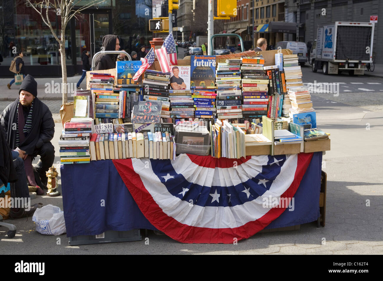 Used books for sale at Union Square, New York City. - Stock Image