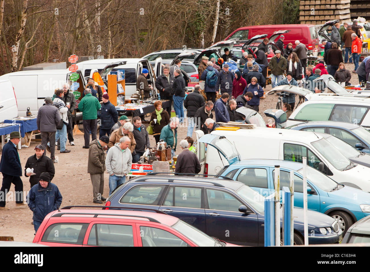 A railway enthusiasts sale in Loughborough, Leicestershire, UK. - Stock Image