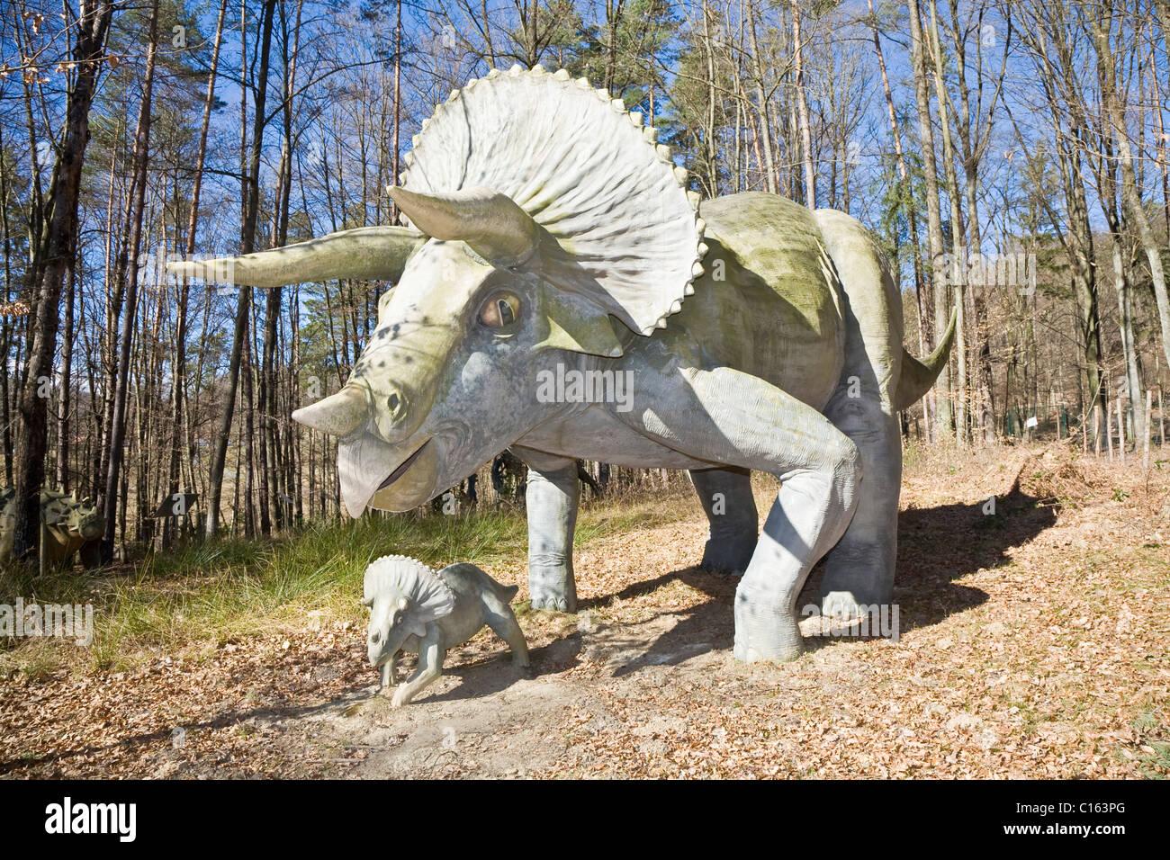 Triceratops Styrassic park Bad Gleichenberg Styria Austria Europe - Stock Image