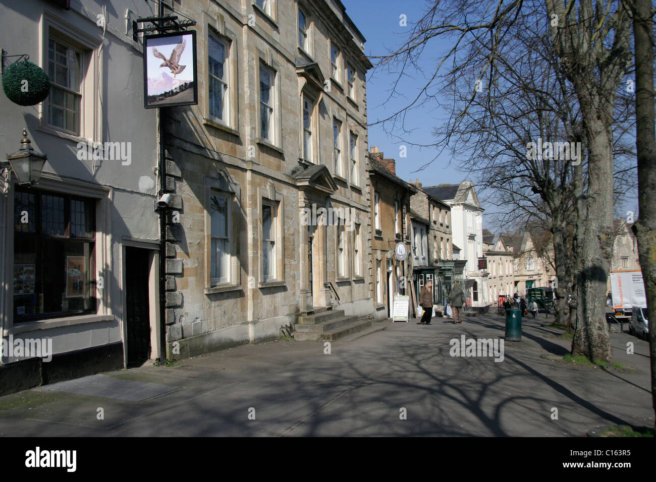 High Street Witney Oxfordshire - Stock Image