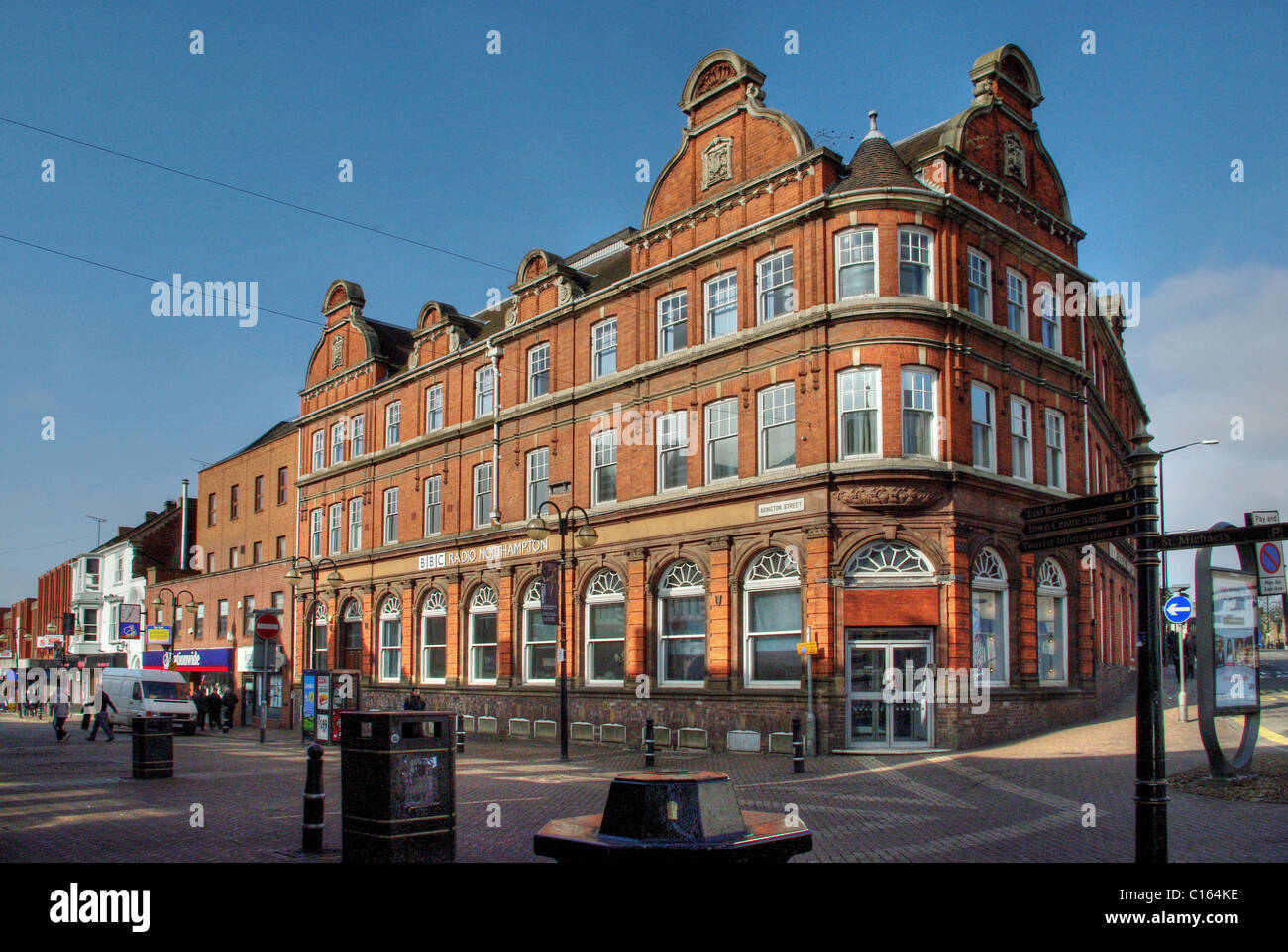 Goodyear Chambers, Northampton, built for the Goodyear Shoe Machinery Company in 1891, now home to BBC Radio Northampton - Stock Image