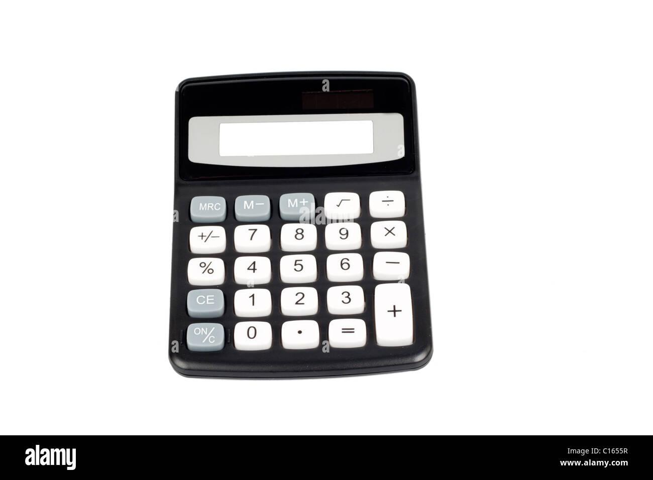 Calculator isolated on white Stock Photo