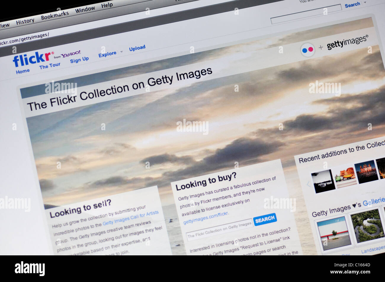 Flickr Collection on Getty Images website - Stock Image