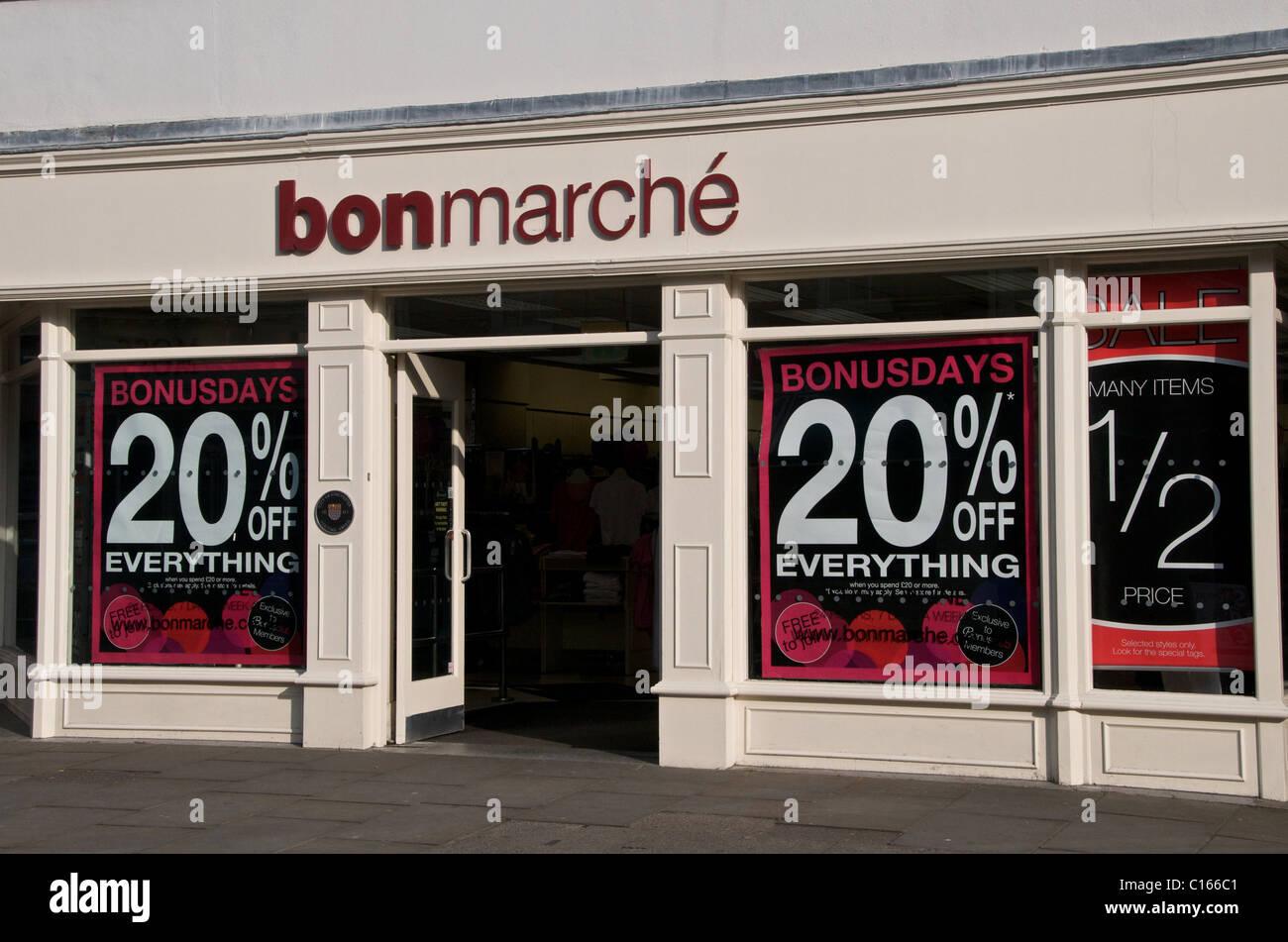Bon Marche logo name - Stock Image