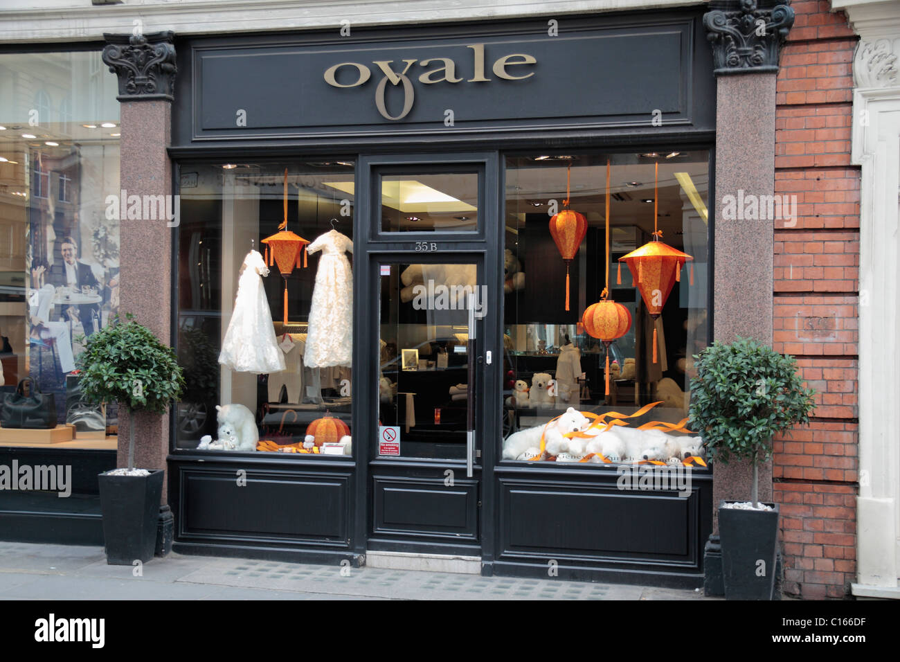 The Ovale children's clothing and fashion shop on Sloane Street, London, SW1, England. - Stock Image