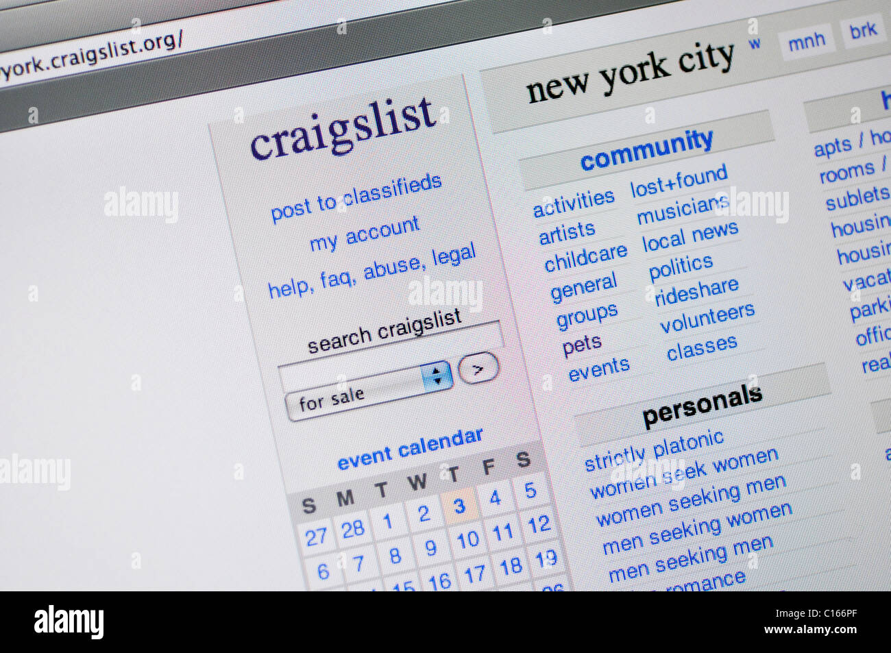 Craigslist Stock Photos Craigslist Stock Images Alamy