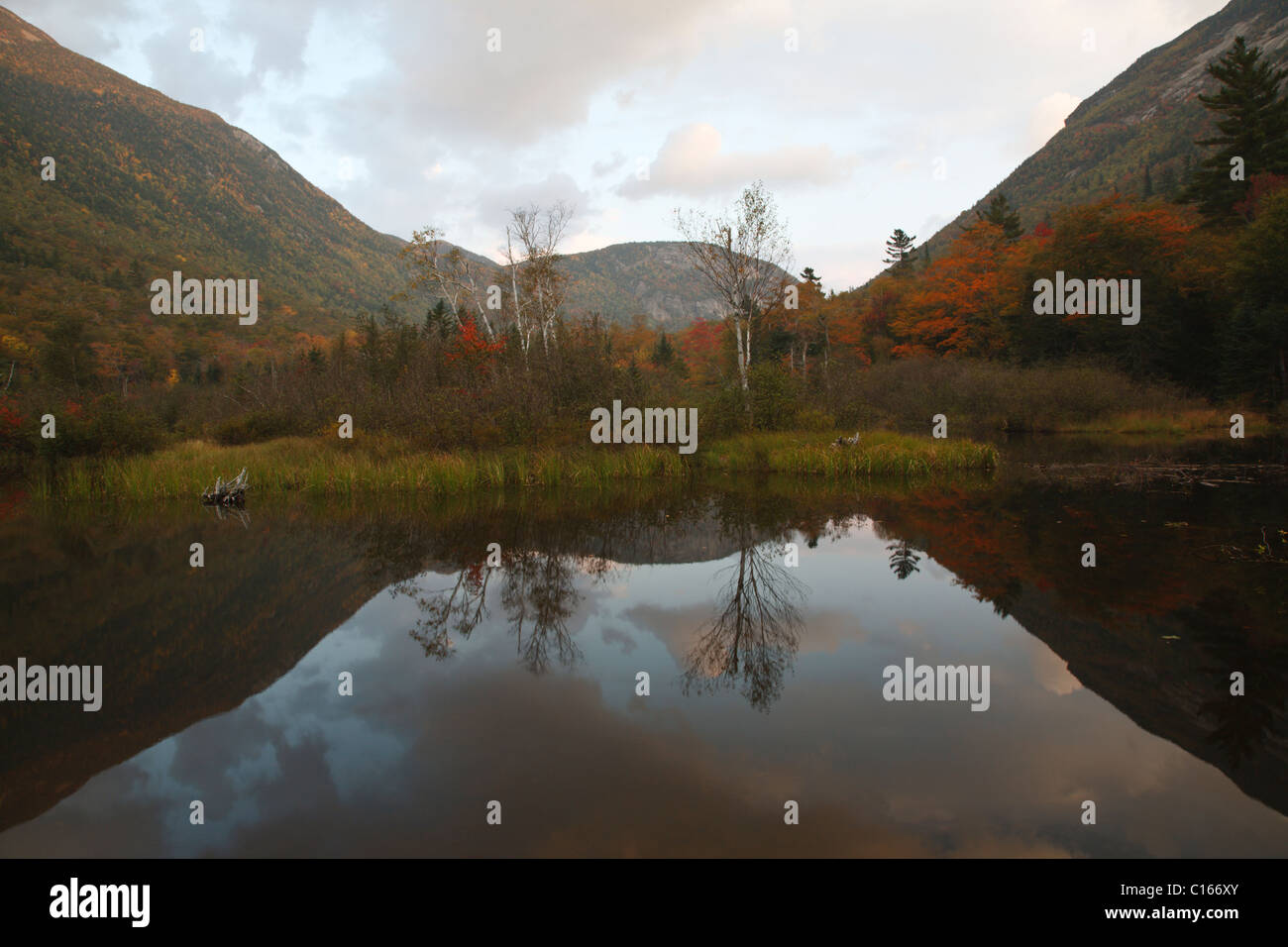 Crawford Notch State Park in the White Mountains, New Hampshire USA Stock Photo