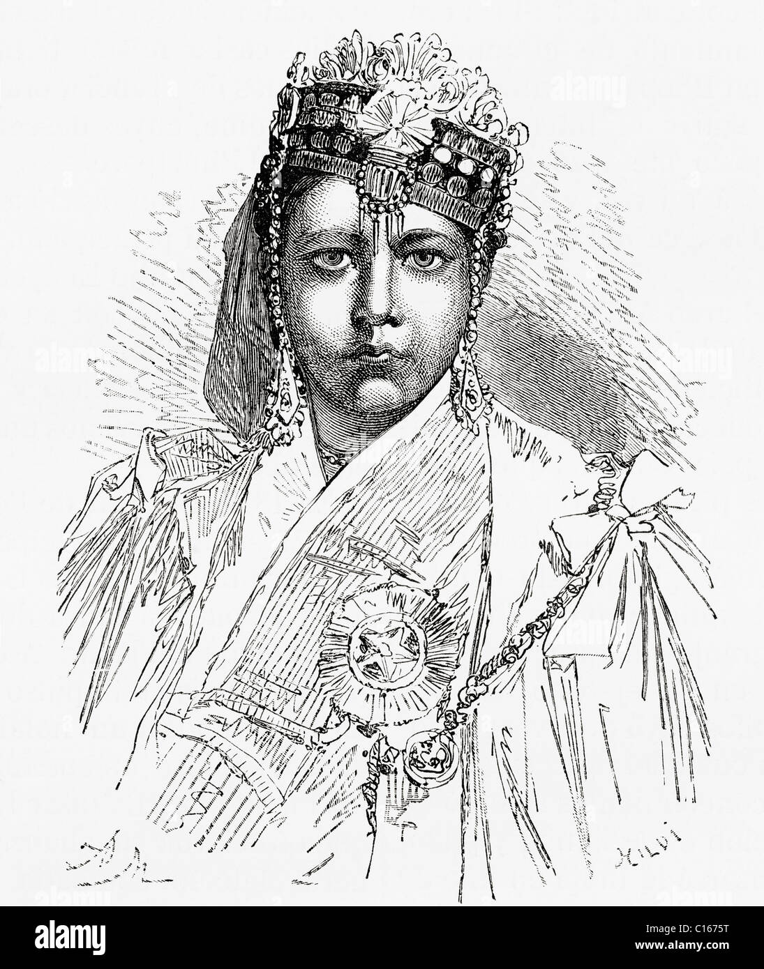 Nawwab Sultan Shah Jahan Begum Sahiba, 1838-1901. Begum of Bhopal, India. - Stock Image