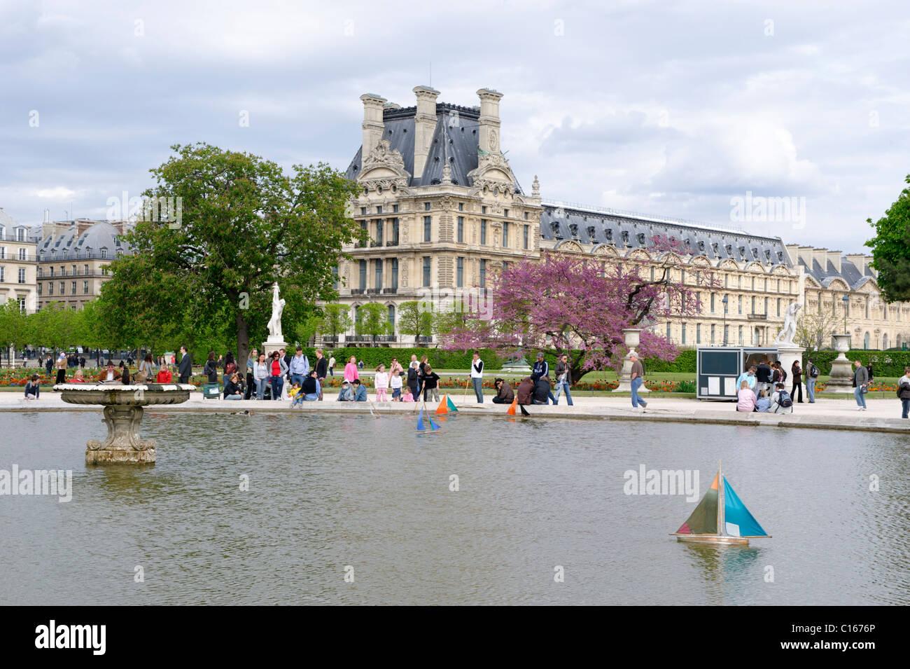 Jardin des Tuileries, Unesco, Paris, Central, France, Europe - Stock Image