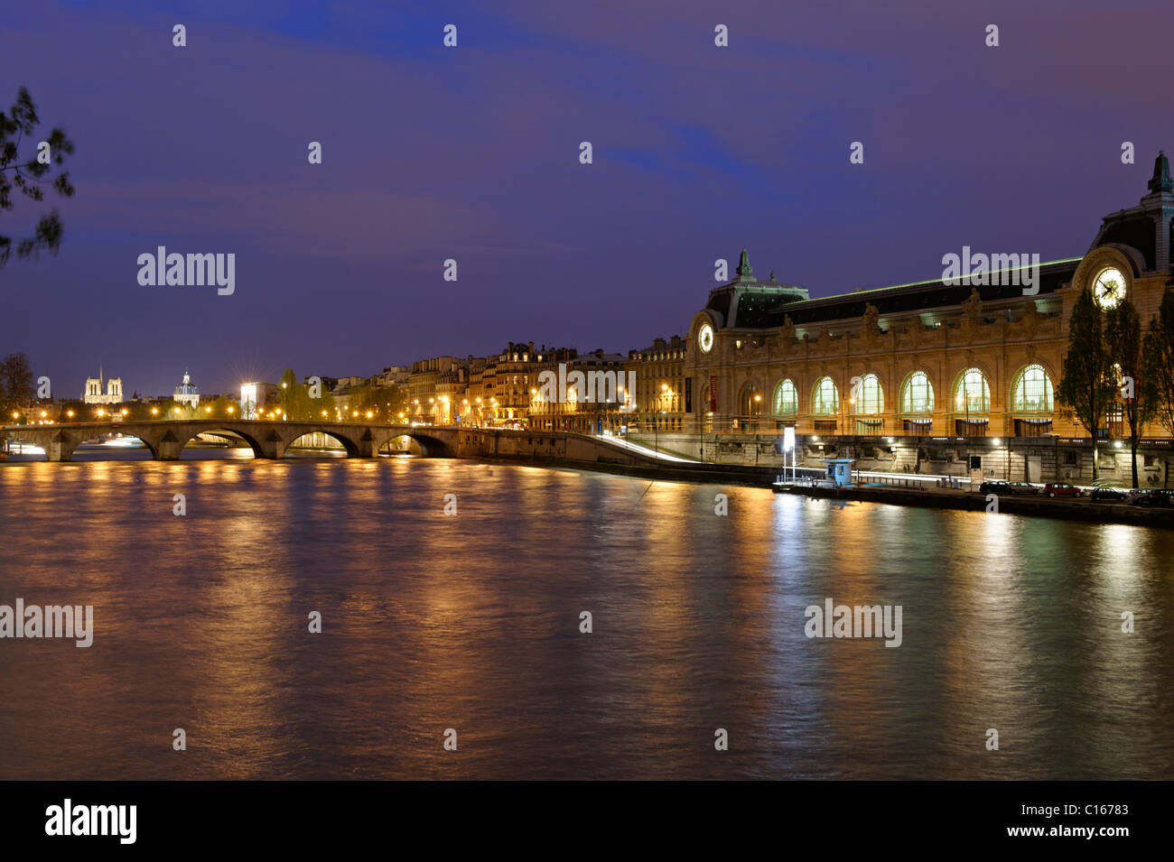 Musee d Orsay, on the Seine River, city centre, Paris, France, Europe - Stock Image