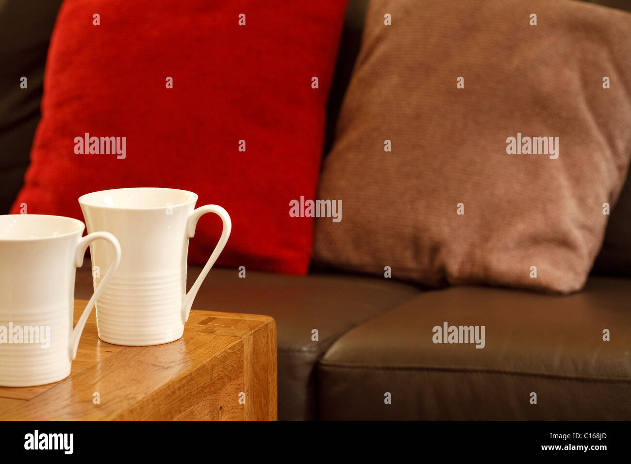 Detail Of A House And MugsPlenty Space Sofa Stylish Coffee With F31lKJcT