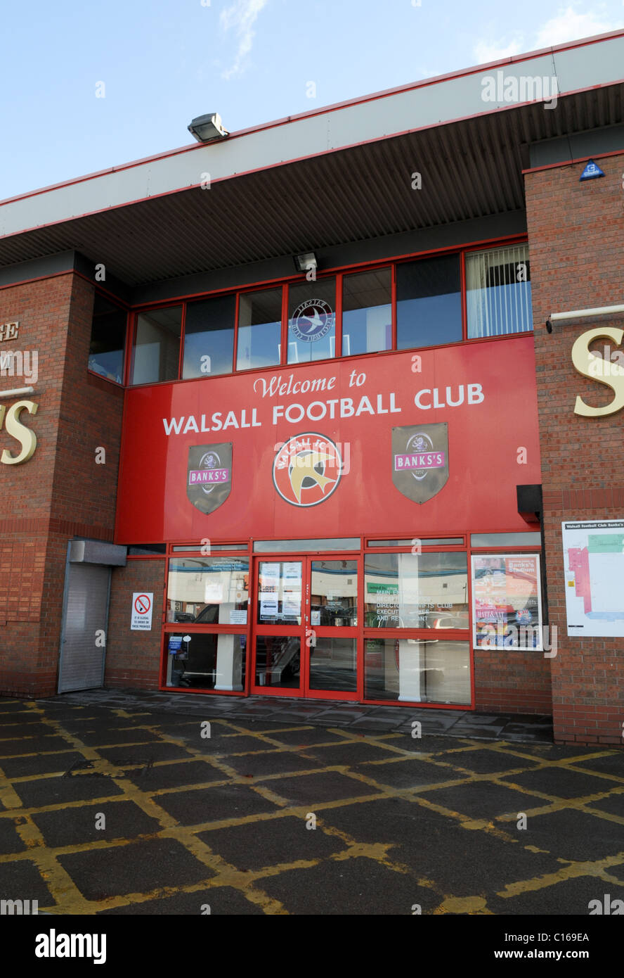 Entrance to Walsall Football Club's Banks's Stadium - Stock Image