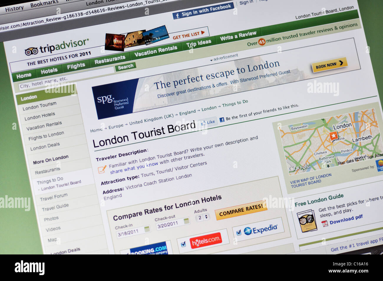Tripadvisor Website Stock Photo 35174978