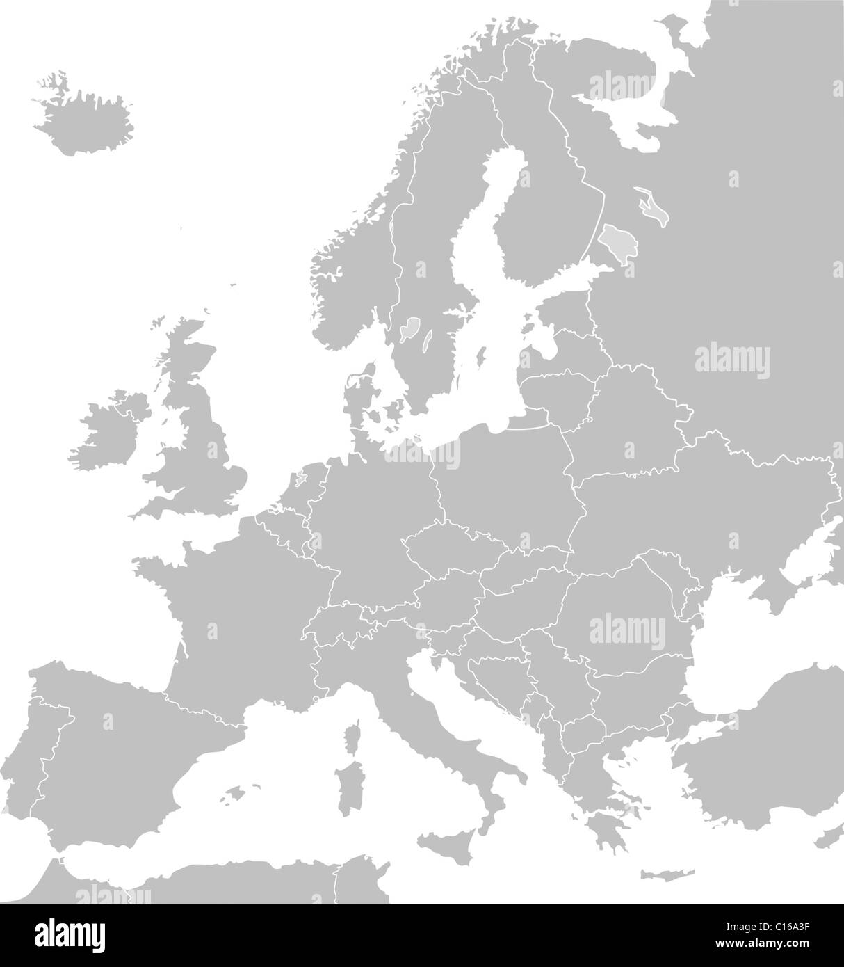 Map Europe Black And White Stock Photos Images Alamy