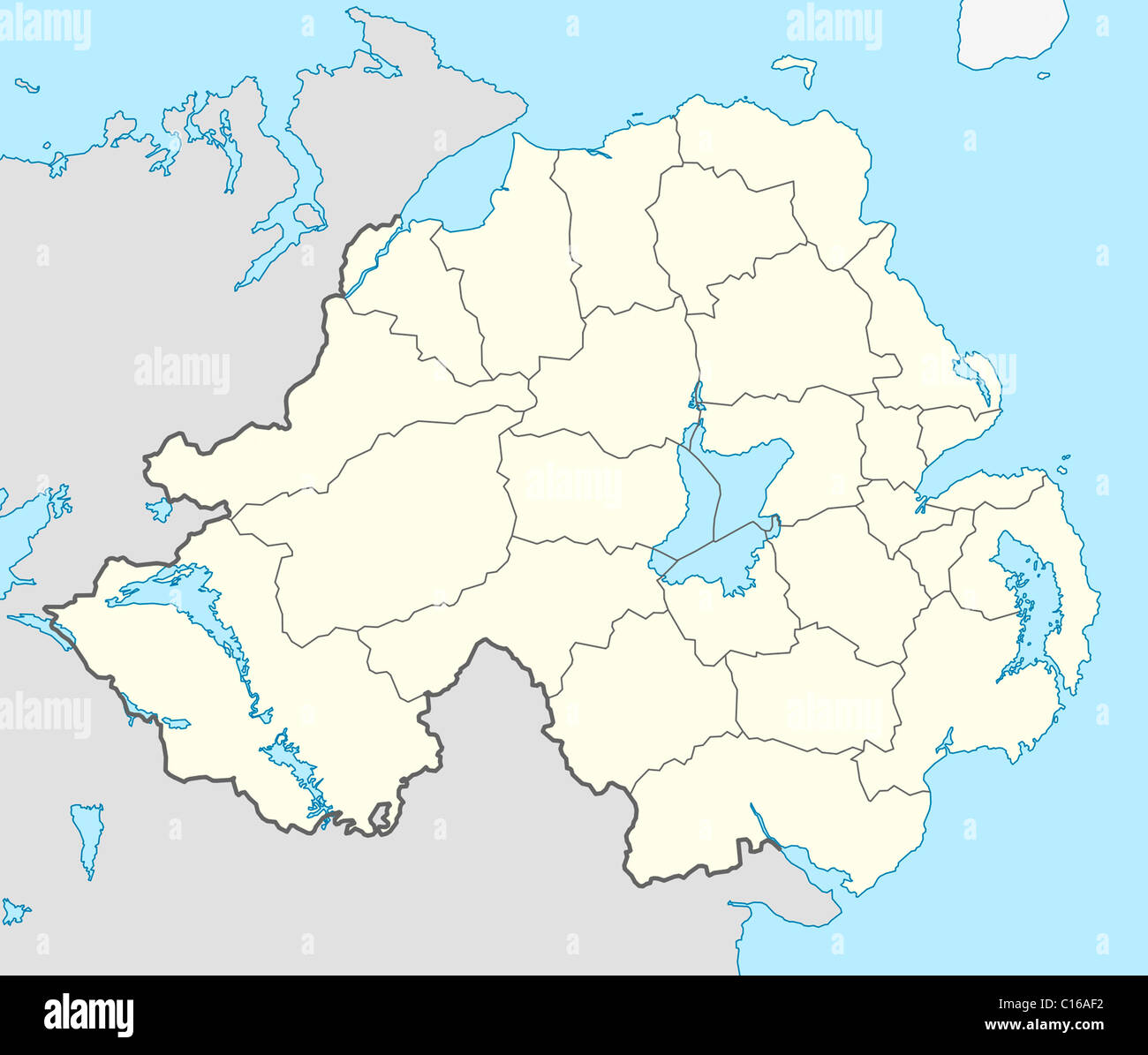 Map Of Northern Ireland And Ireland.Northern Ireland Map Stock Photos Northern Ireland Map Stock