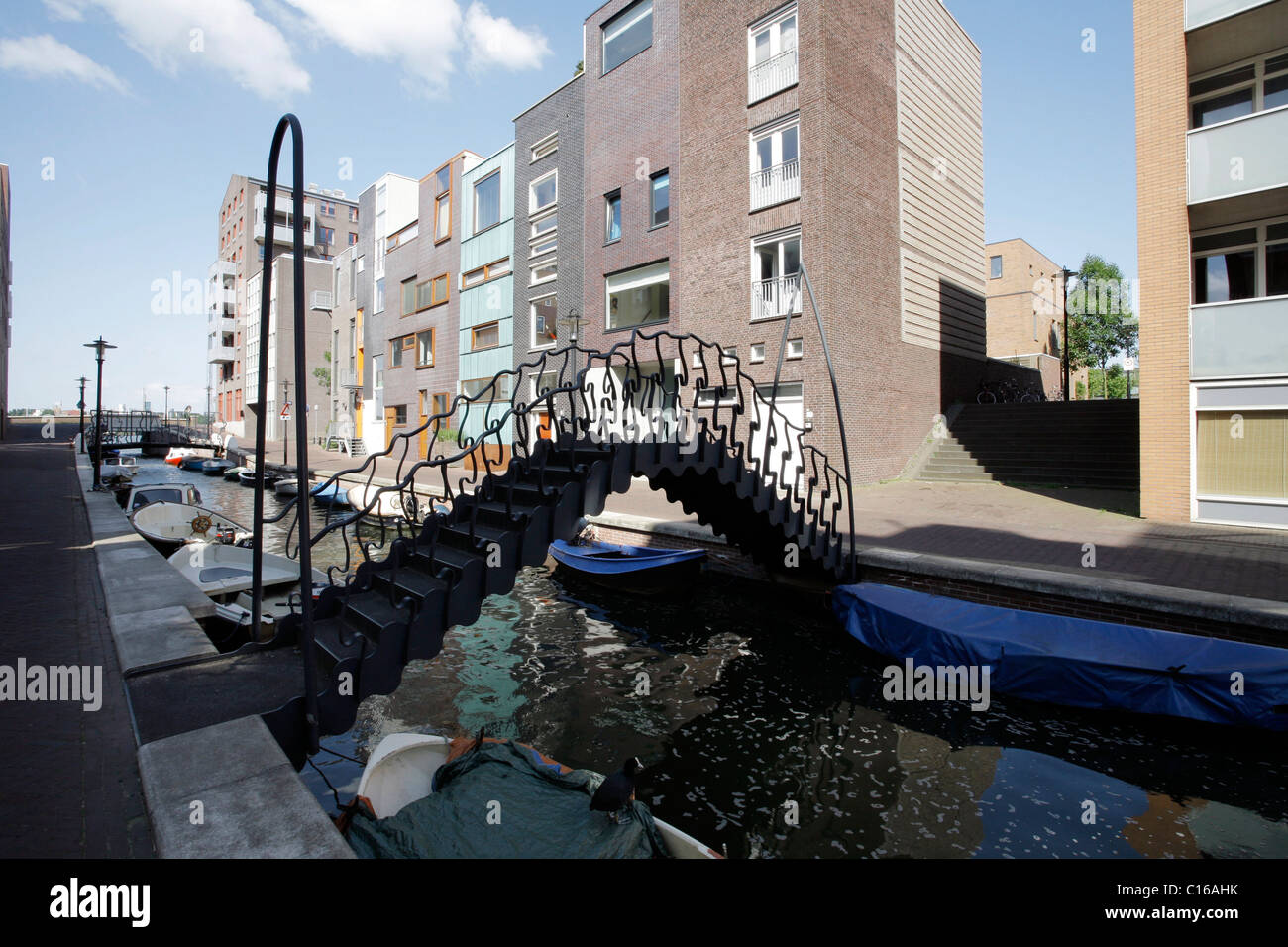 Java Eiland or Island, located in Amsterdam's harbour, covered with contemporary Dutch architecture, Amsterdam, - Stock Image