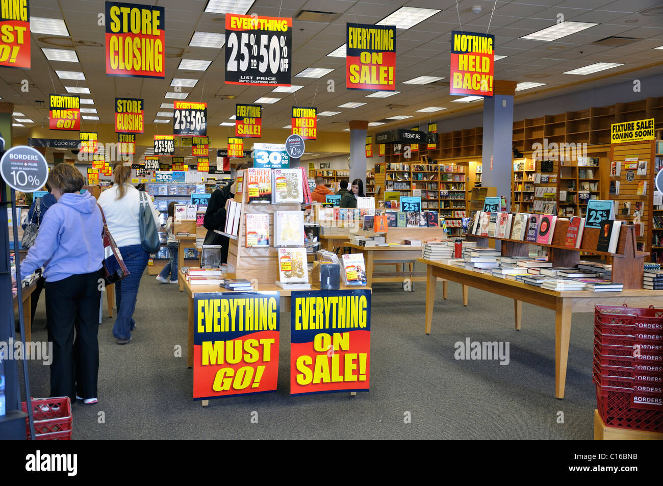 Bookstore closing - Stock Image