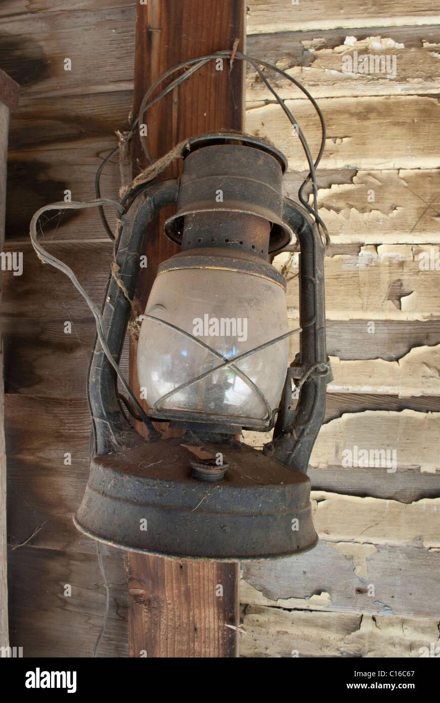 Rustic Lantern - Stock Image