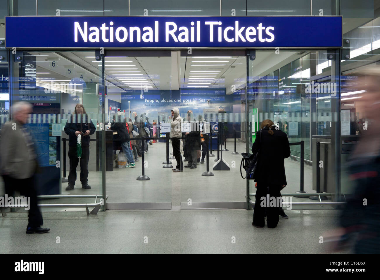 National Rail Ticket Office - St Pancras Station - London - Stock Image