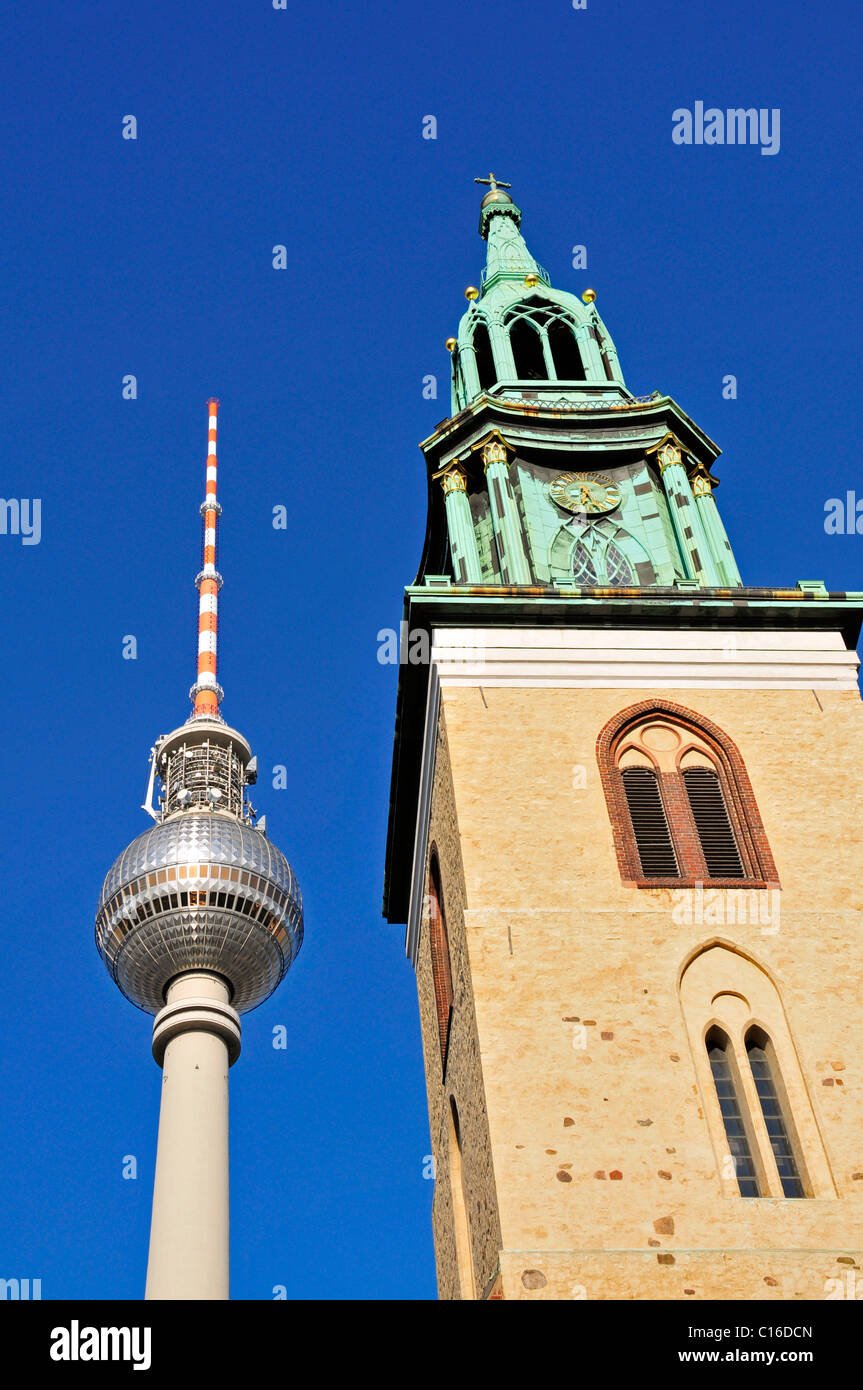 TV tower on Alexander Square, Berlin, Germany, Europe Stock Photo