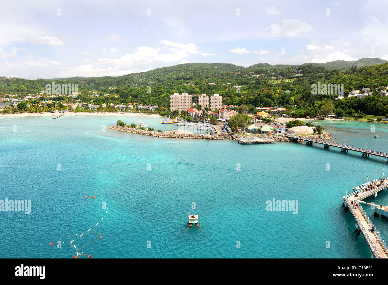 Ocho Rios in Jamaica during bright day - Stock Image
