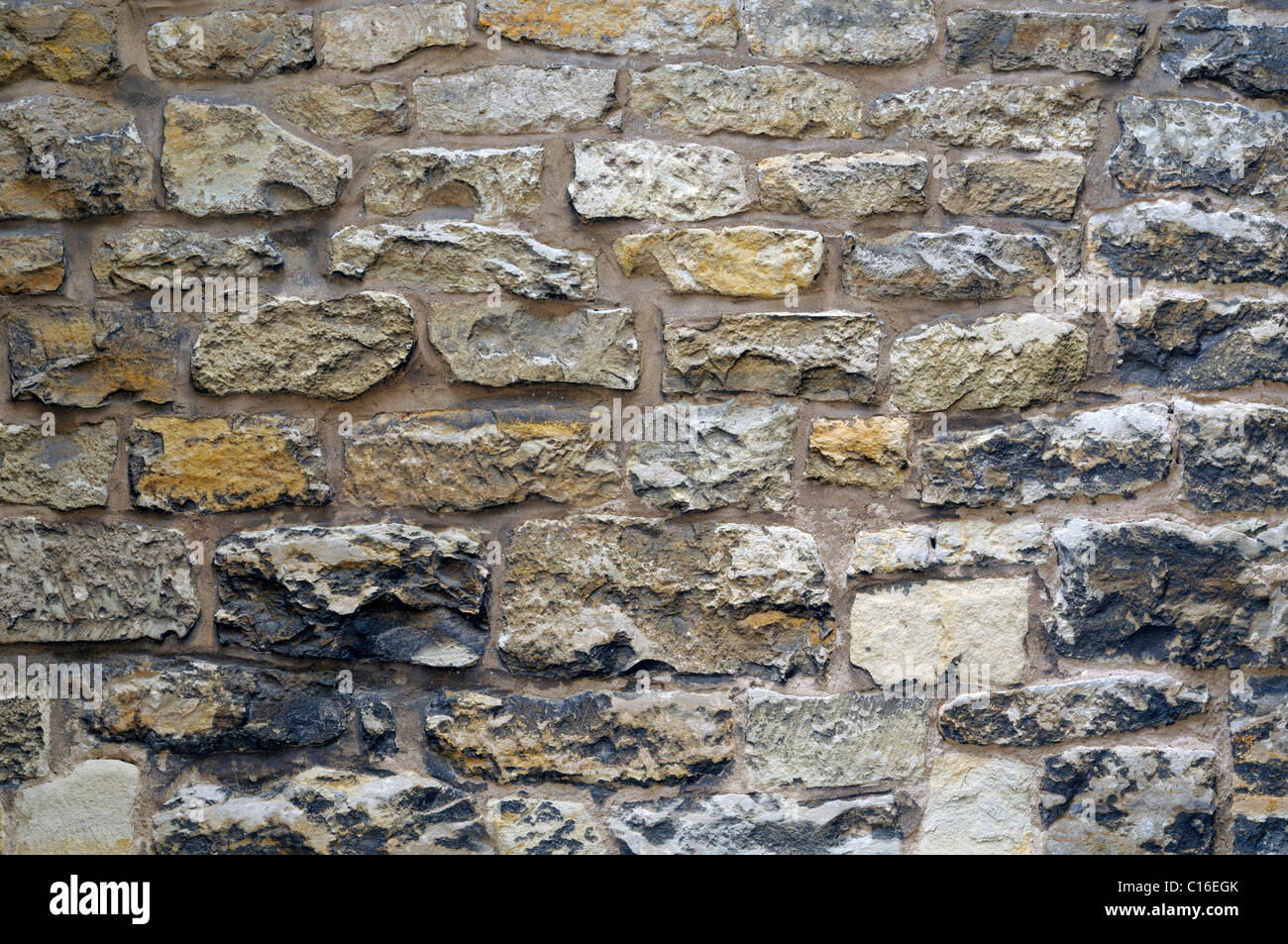 Quarry stone wall, texture - Stock Image