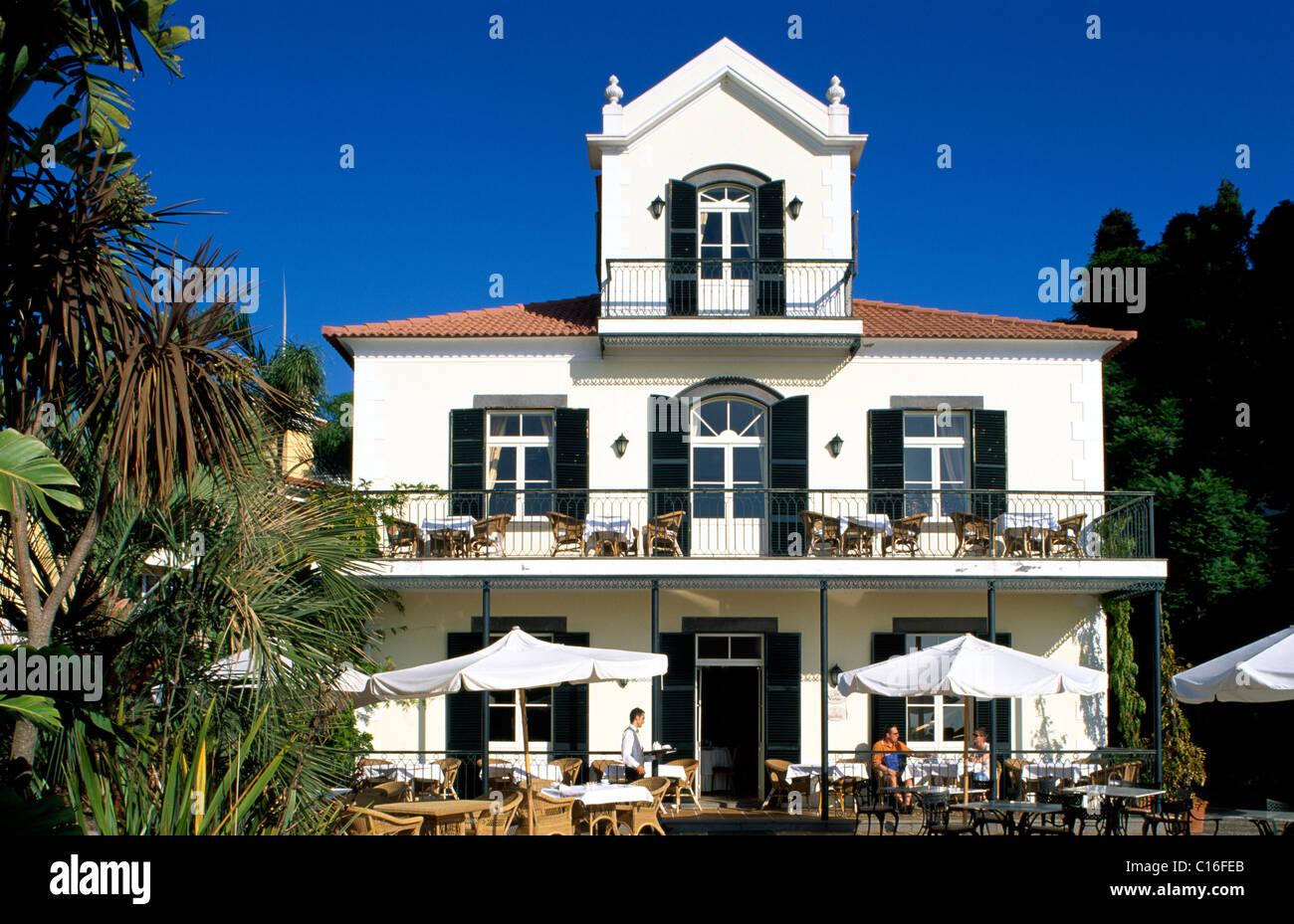 Breakfast Terrace, Quinta do Estreito Hotel, Estreito de Camara de Lobos, Madeira, Portugal, Europe Stock Photo