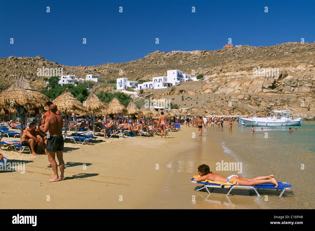 Best Island Beaches For Partying Mykonos St Barts: Super Paradise Beach, Mykonos, Cyclades, Greece, Europe