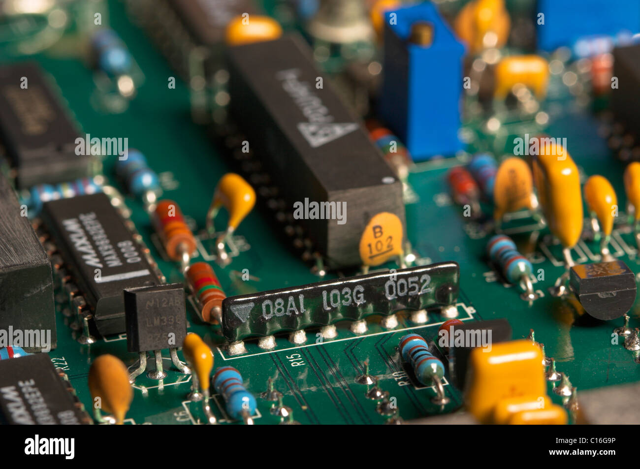 Electronics Pcb Stock Photos Images Alamy Industrial Control Printed Circuit Board Assembly Pcba Macro Of A Used In Electronic Equipment