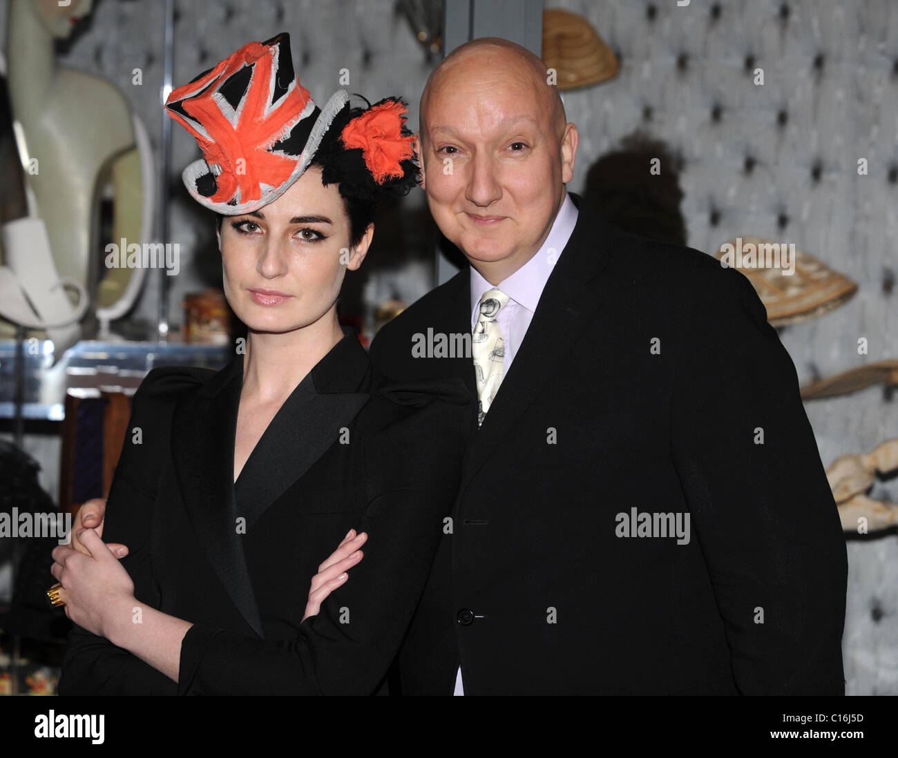 14ee4e2fa18 Erin O Connor and Stephen Jones  Hats  An Anthology by Stephen Jones   photocall held at the V A London