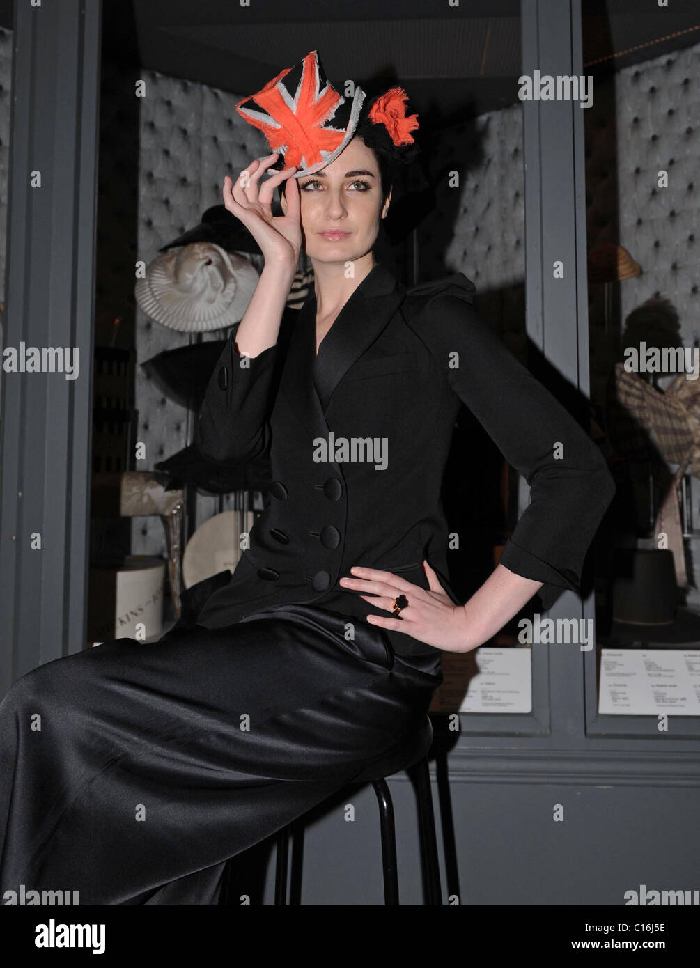 Erin O Connor  Hats  An Anthology by Stephen Jones  photocall held at the  V A London ed9b9c81854