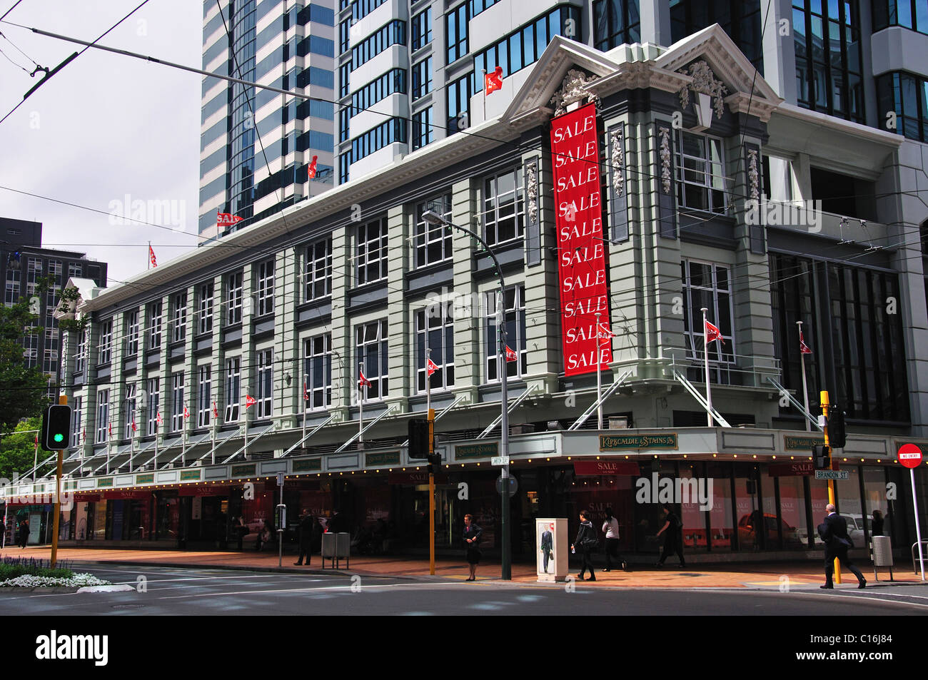 Kirkcaldie & Stains Ltd Department Store, Lambton Quay, Wellington, Wellington Region, North Island, New Zealand - Stock Image