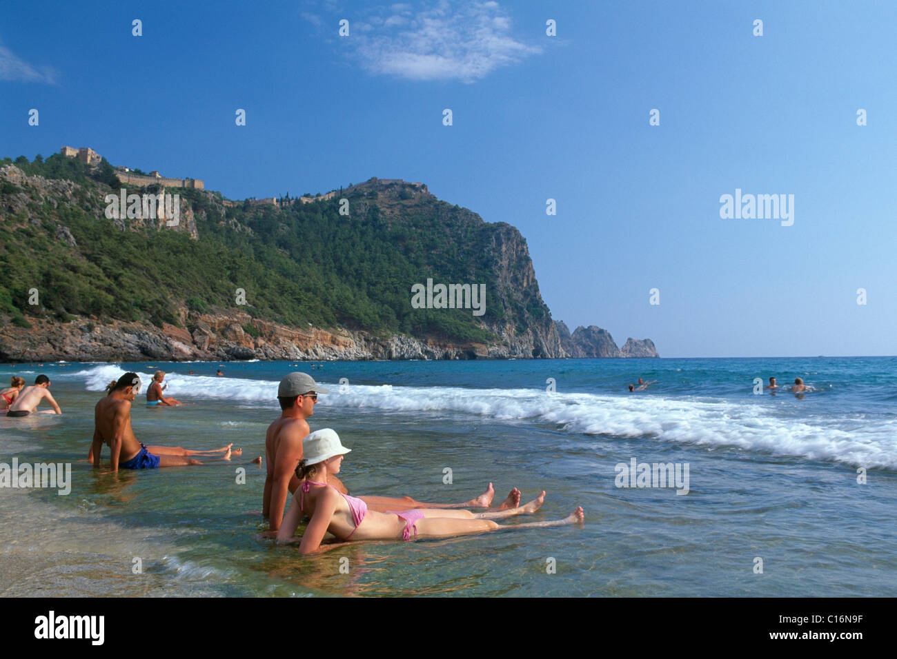 Cleopatra Beach, Alanya, Turkish Riviera, Turkey - Stock Image