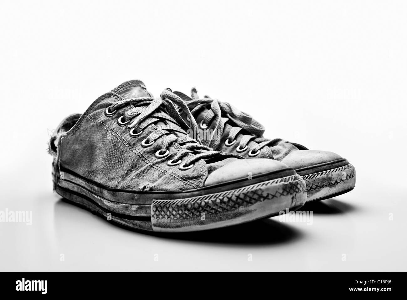 A pair of Converse All Star shoes - Stock Image