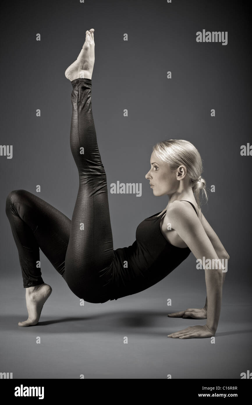 portrait of a  sporting woman - Stock Image