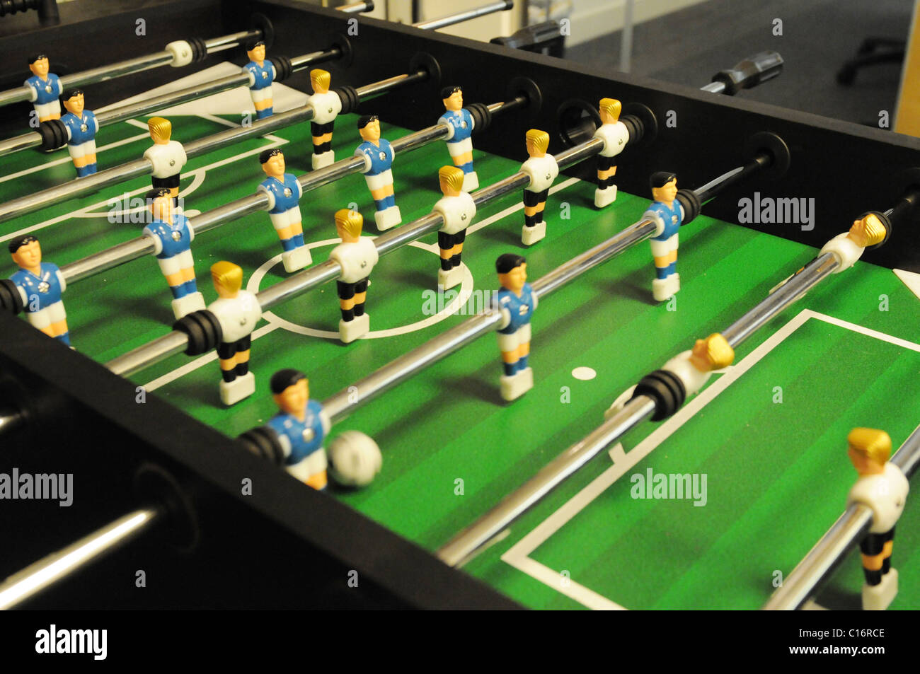 close up of table football game - Stock Image