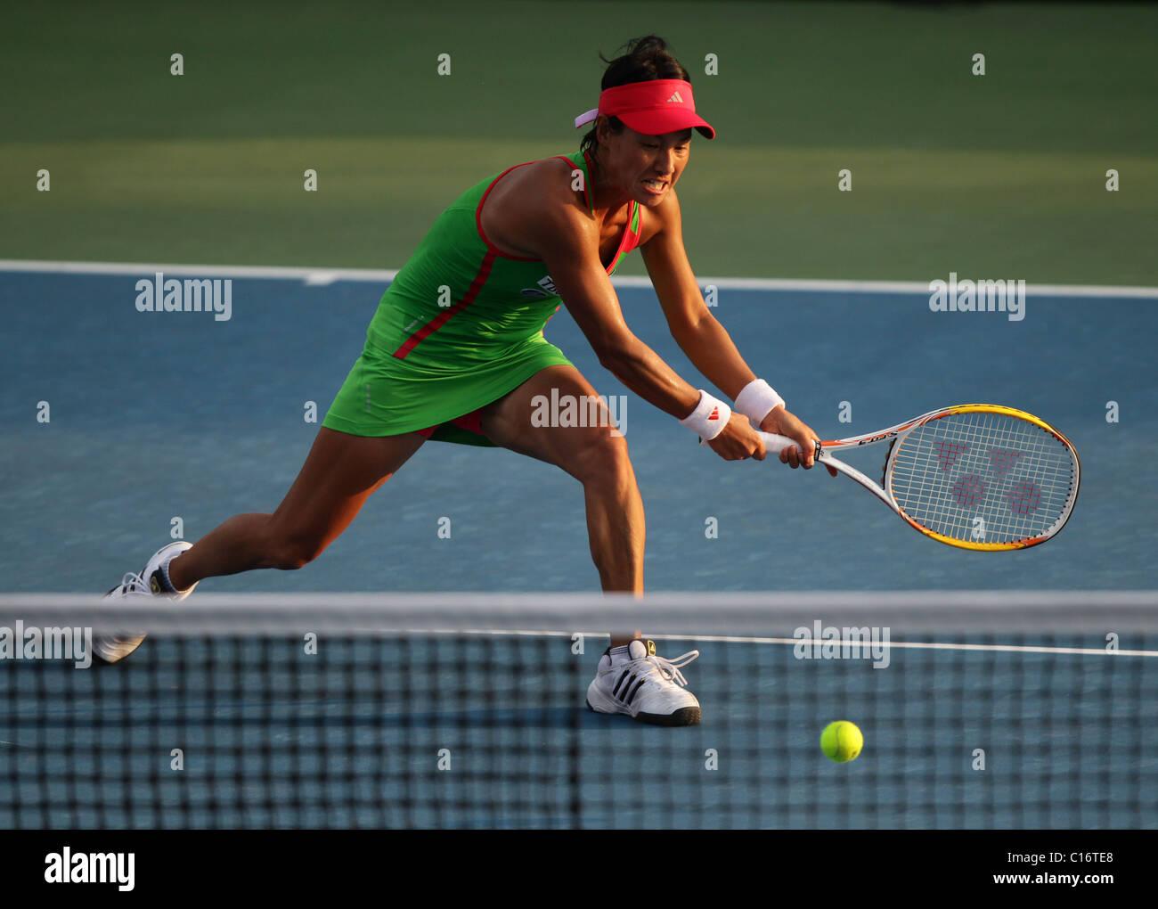 Tennis player Kimiko Date-Krumm of Japan - Stock Image