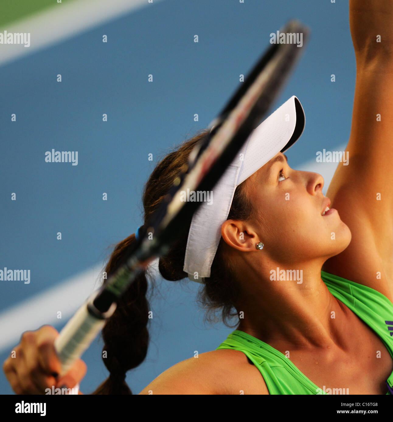 Tennis player  Ana Ivanovic of Serbia - Stock Image