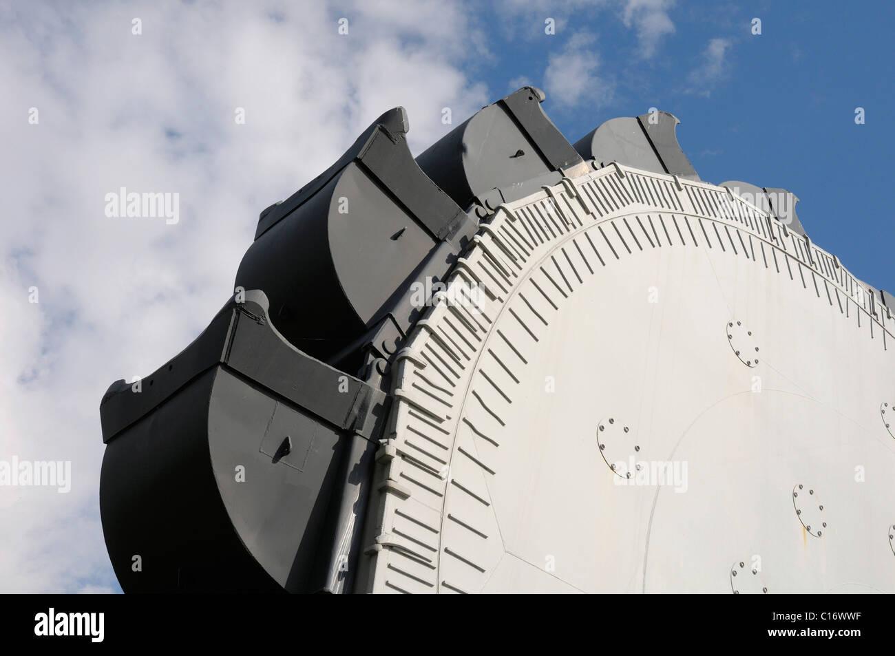 Bucket wheel SRs 6300, overburden excavator, open-pit mining of brown coal Stock Photo