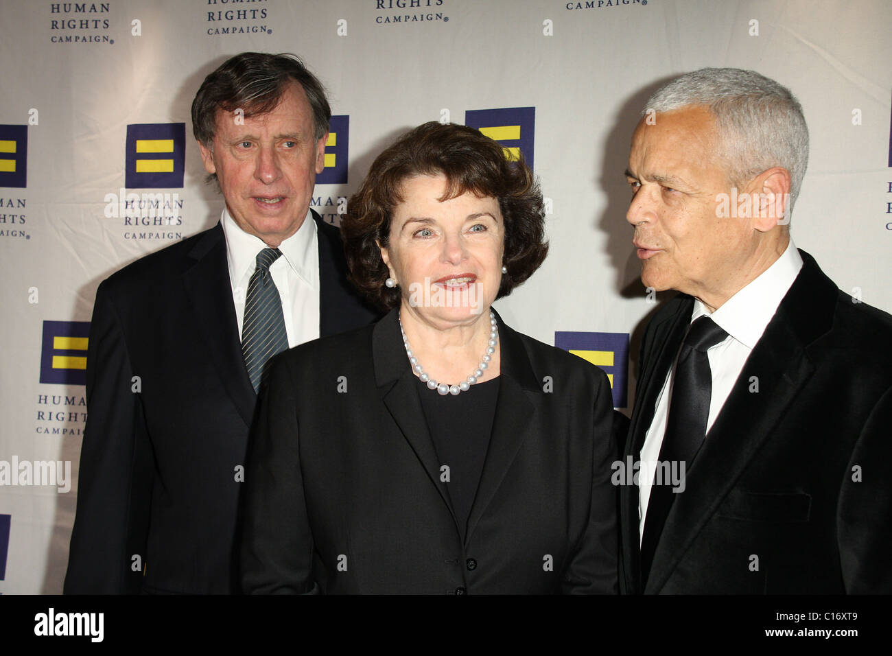 Dianne Feinstein and Julian Bond Human Rights Campaign's annual gala and hero awards held at the Hyatt Regency - Stock Image