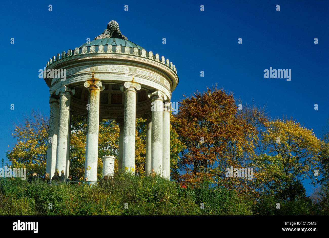 Monopteros in the Englisch Garden, Munich, Bavaria, Germany, Europe - Stock Image