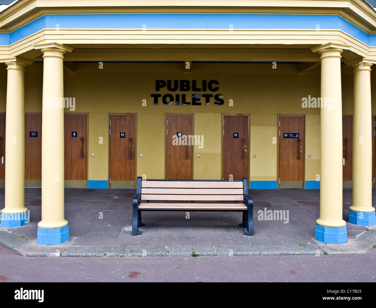 Public toilets on the promenade at Southend on Sea.  Photograph by Gordon Scammell - Stock Image