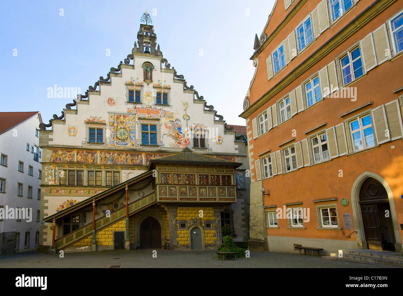 Altes Zollamt, Old Customs Office, Lindau am Bodensee, Lake Constance, Bavaria, Germany, Europe Stock Photo