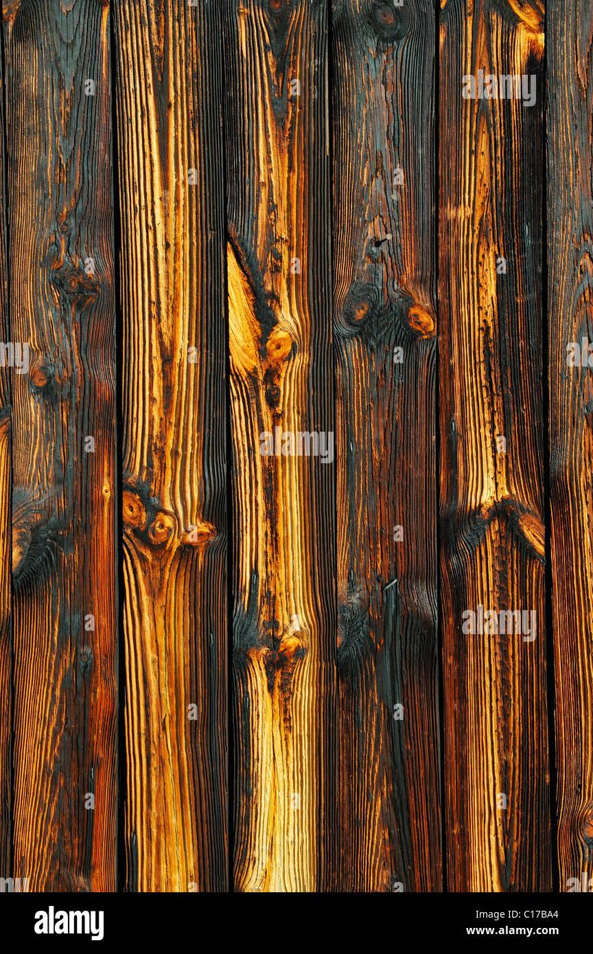 Wood grain, wooden wall - Stock Image