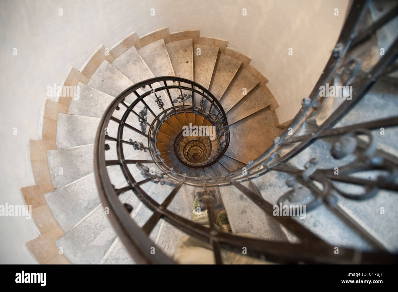 Wide Angle Spiral Staircase   Stock Image